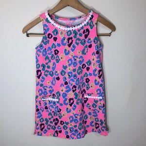 Lily Pulitzer Neon Pink Animal Print Dress Cheetah